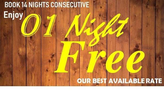 Save 100% one night when you book 14 consecutive nights above