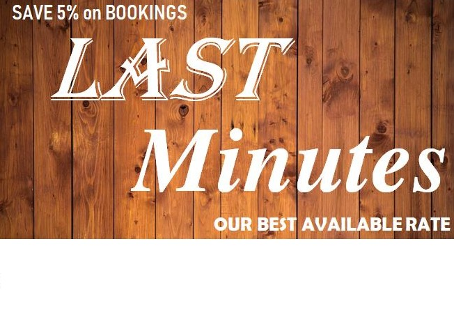 5% DISCOUNT ON LAST MINUTES BOOKING